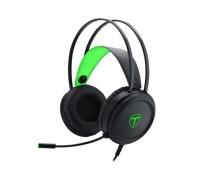 T Dagger T-Dagger Ural Green Lighting Gaming Headset w/ Gooseneck Mic - Black/Green Photo