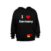 I Love Germany - Adults - Hoodie - Black Photo