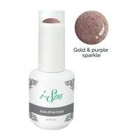 15ml i-Spa Gel Polish - Gold & Purple Sparkle Photo
