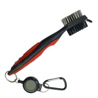 Golf Club Brush And Groove Cleaner - Red Photo