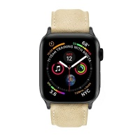 Apple Colton James Leather Strap for Black/Space Grey 44mm Watch-Sandstone Photo