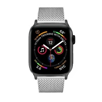 Apple Colton James Mesh Strap for Black/Space Grey 44mm Watch - Silver Photo