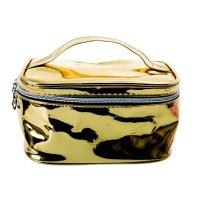 Cosmetic Metallic Bag- Gold Photo