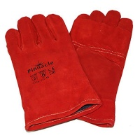 Pinnacle Welding Glove Red Heat Resistant - Kevlar Stitch Elbow Photo