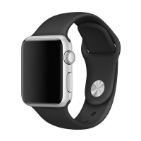 Apple Killerdeals Silicone Strap for 42mm Watch - Black and Grey Photo