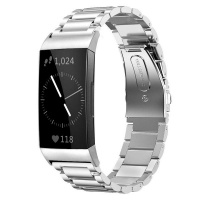 Killerdeals Stainless Steel Replacement Strap for Fitbit Charge 3 - Silver Photo