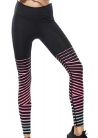 Women Printed Compression Running Tights - Red Photo