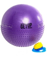 GetUp Beam 65cm Yoga Ball With Massage Dots And Pump - Purple Photo