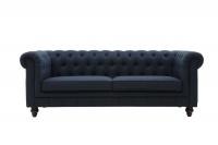 George & Mason - Regale Tufted 3 Seater Sofa - Denim Blue Photo