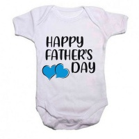 Qtees Africa happy Fathers Day Boy Baby Grow Photo