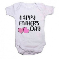 Qtees Africa Happy Fathers Day Girl Baby Grow Photo
