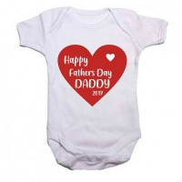 Qtees Africa Happy Fathers Day 2019 Baby Grow Photo