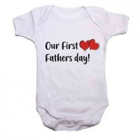 Qtees Africa Our First Fathers Day Baby Grow Photo