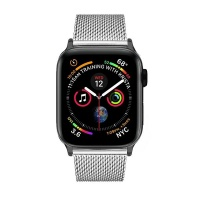 Apple Colton James Mesh Strap for Black/Space Grey 40mm Watch - Silver Photo