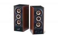Genius HF800A - 2.0 Channel 3 Way Hi Fi Wood Speakers - 20W Photo