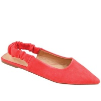 Ladies Pointy Pump Tomato Red Photo