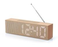 Lexon Titanium LED Clock Radio Copper Brown Photo