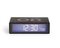 Lexon Flip Clock 2 LCD Alarm Clock Dark Wood Photo