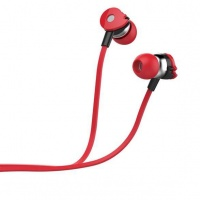 Astrum Wired Stereo Earphones with In-line Mic - Red Photo