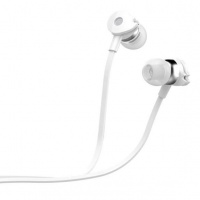 Astrum Wired Stereo Earphones with In-line Mic - White Photo