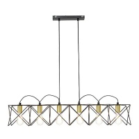 The Lighting Warehouse - Pendant Brooklyn 20996SB Satin Brass & Black Photo
