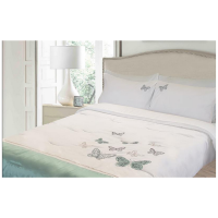 Lush Living - Butterfly Embroidered Duvet Comforter Set Photo