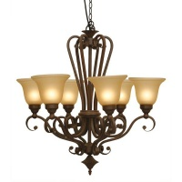 The Lighting Warehouse - Chandelier Wrought Iron Carissa 6 Photo