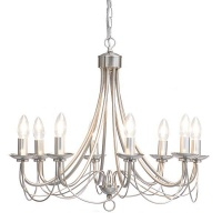 The Lighting Warehouse - Chandelier Modern no Shade Maypole 8 12377SS Photo