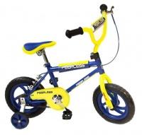 "Peerless 12"" BMX Bike with Training Wheels - Blue & Yellow Photo"