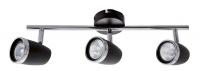 Bright Star Lighting - Three Black and Polished Chrome Spotlight Photo