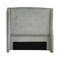 Double Headboard Blue in the Finest Fabric Photo
