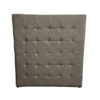 Double Headboard Brown in the Finest Fabric Photo