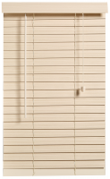 Decor Depot 50mm Fauxwood Venetian Blind Limewash 2200mm X 1600mm Photo