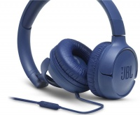 JBL Tune 500 Wired On Ear Headphone - Blue Photo