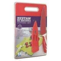 Cutting Board & Knife Set - Red Photo