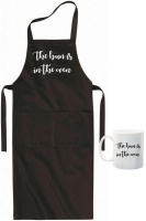 Qtees Africa The bun is in the oven apron& mug combo Photo