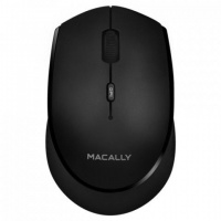MACALLY Rechargeable Bluetooth Optical Mouse - White/Silver Photo