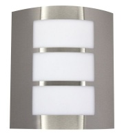Bright Star Lighting - Stainless Steel Wall Bracket With Straight White Polycarbonate Cover Photo
