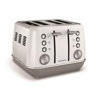 "Morphy Richards - Toaster 4 Slice Stainless Steel White - 1800W ""Evoke"" Photo"