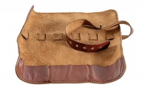 Yuppie Gift Baskets-leather Utility Cable Roll-Up Bag - Brown Cellphone Cellphone Photo