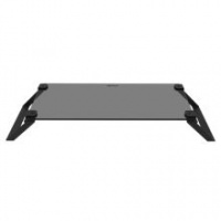 MACALLY Tempered Glass Monitor Stand - Black Photo