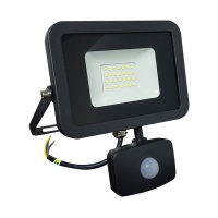 LED Flood Light With Motion Sensor LUXN 30W. Slim Design IP65 Photo