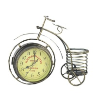 Vintage Bicycle Mute Two Sided Table Clock Photo
