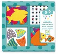 Djeco Create with Stickers - I love Fish Photo