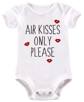 BTSN - Air Kisses Only Please - Baby Grow Photo