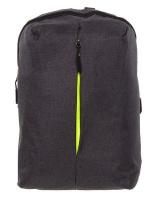 PowerUp Urban Denim Laptop Backpack-Charcoal Photo
