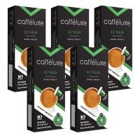 Caffeluxe Nespresso Compatible 50 Capsules Bulk Lungo Dark Roast Photo