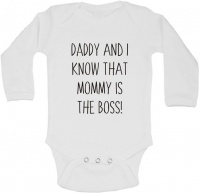 BTSN - Daddy & I know mommy is boss -baby grow L Photo