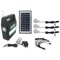 GD-8216 Rechargeable Solar Digital Light Kit FM Radio MP3 Player Photo