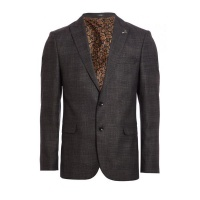 Quiz Mens Grey Check Blazer - Grey Photo